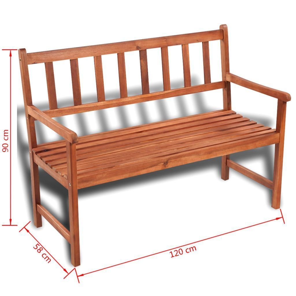 Amazon com k top deal outdoor patio wooden bench acacia wood with light oil finish patio furniture garden outdoor