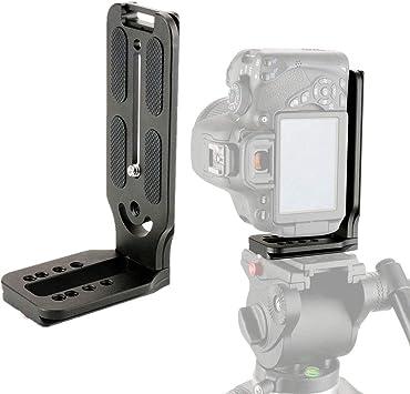 Black Camera L Bracket Universal Vertical Shoot Quick Release L Plate Bracket Base Holder Color : Black