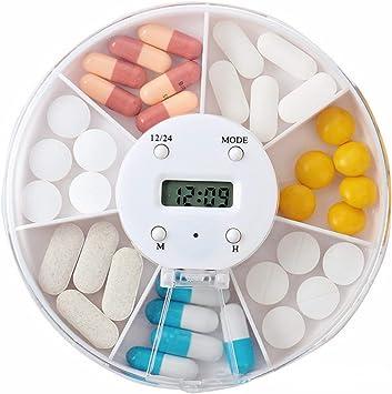 BrilliantDay Alarma digital Caja de pastillas Pastillero ...