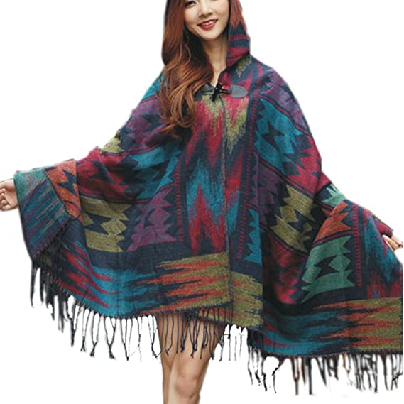 Amazon.com: maoyin Mujer Toggle Tassel Pashmina Wrap Shawl ...