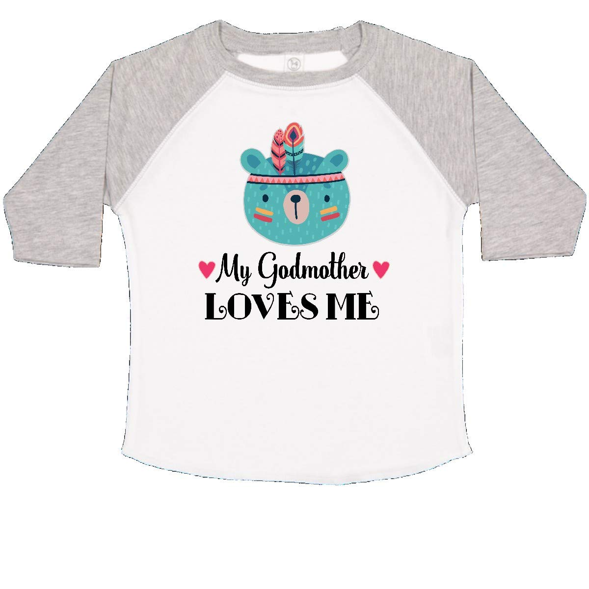 inktastic My Godmother Loves Me Tribal Bear Toddler T-Shirt
