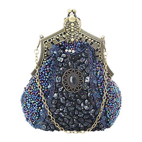 Party Retro Fashion Pearl For Handbag Capacity Blue Clutch Rabbit Women Bag Purple Large Lovely Color Evening 1EwYnx