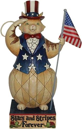 Enesco Jim Shore Heartwood Creek from Patriotic Cat Statue 20.25 in