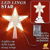 Strong Camel 8.5'' Flash Light Led Decoration Lamp Pentagram Star Christmas Tree Topper Lovely Shiny Xmas Decorative
