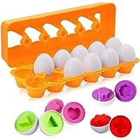 BYBOT 12 Piezas Rompecabezas de Huevos Color