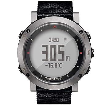 NORTH EDGE Reloj Militar Deportivo para Hombres Reloj LED Digital Pantalla con luz Trasera Relojes Resistente al Agua Altímetro Casual Brújula Cronómetro ...