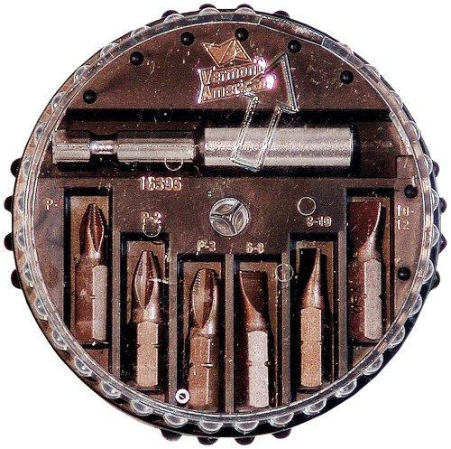 (Vermont American 16395 Icebit 6 Bit Tip Assortment and Bit Tip Holder in a Plastic Spin-A-Bit Dispenser)