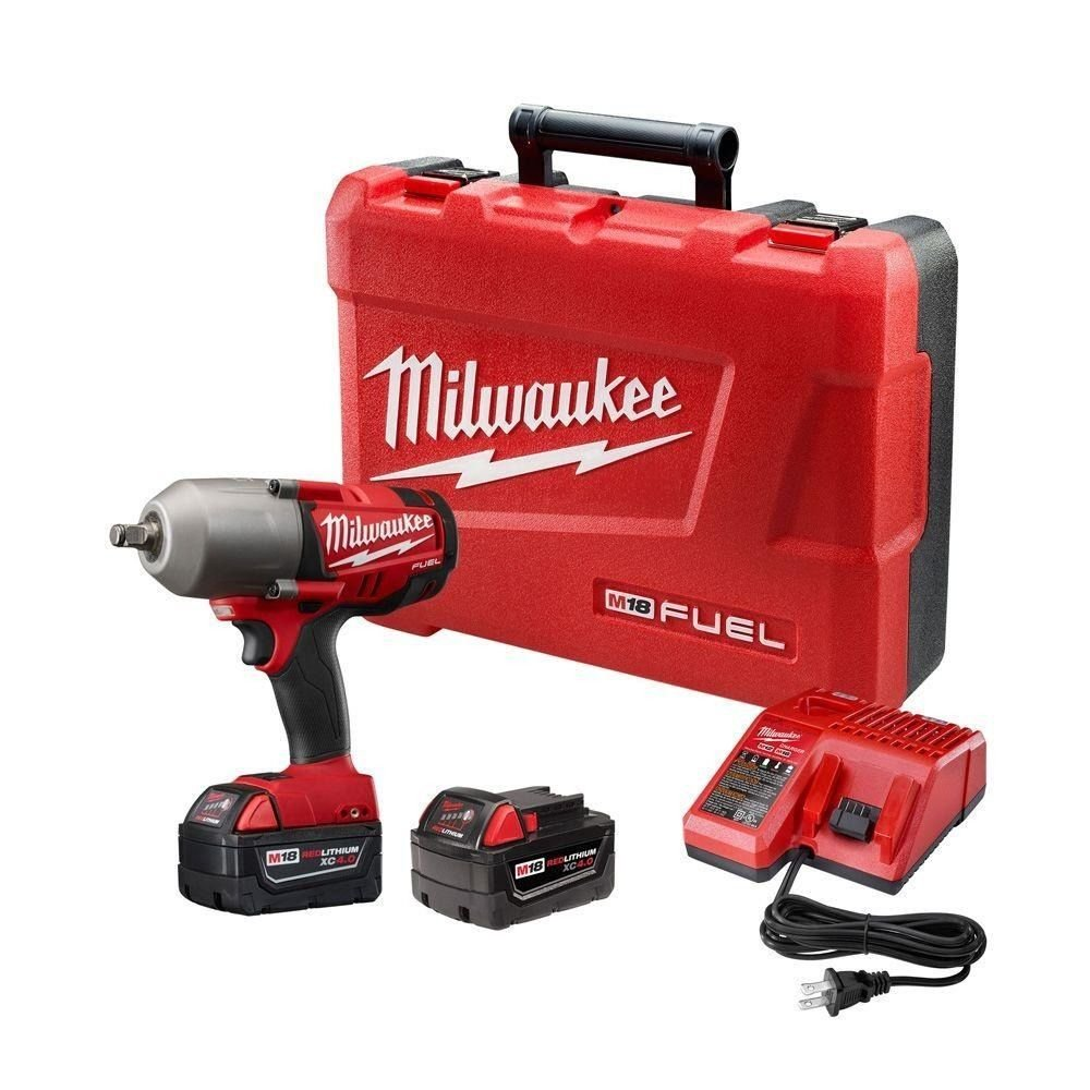 Milwaukee 2763-22 M18 Fuel 1/2'' High Torque Impact Wrench W/ Friction Ring Kit