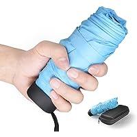 Paraguas Plegable, Mini Paraguas Ultraligero, Ultra Mini, Ultra Protector Doble-Uso Paraguas del Sol/Lluvia, Ultraligero y Conveniente para Viajes. -Gran Regalo