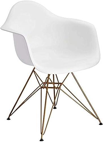 Design Guild Banks White Arm Chair