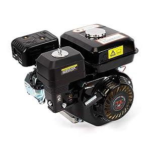 Motor de gasolina de 7,5 cv/4 tiempos, motor de estacionamiento, motor de cartón, suministro de fuerza de gravedad refrigerado por aire, motor industrial de 5,1 kW, para bombas y barcos, Negro