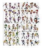 Chaoran 1 Fleece Blanket on Amazon Super Silky Soft All Season Super Plush Sports Decor Collection Kids Playing Variousports Illustration Cheerleader Boys Girls Children Picture Fabric Extra Red Purpl
