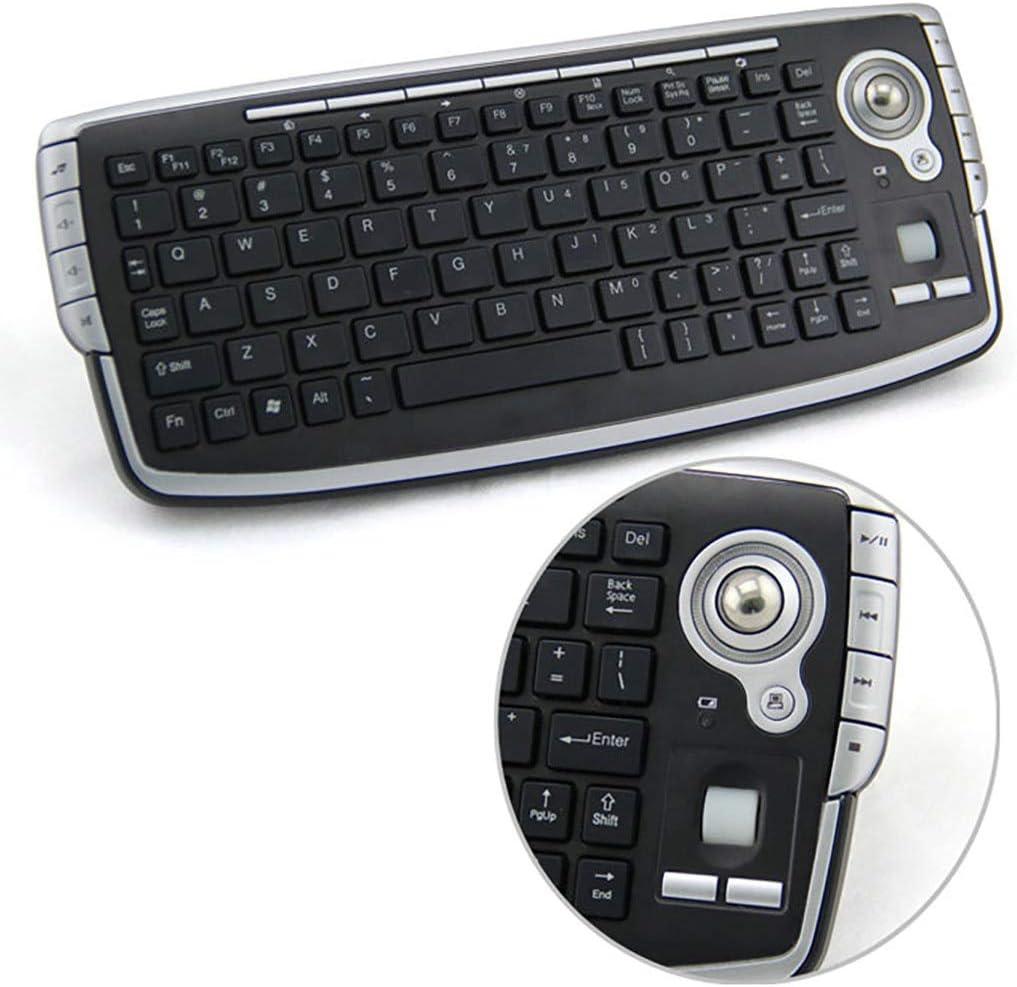 Keyboards Teclados 2.4 G inalámbrico Mini Air Mouse función Multimedia Trackball USB Mini para PC: Amazon.es: Electrónica