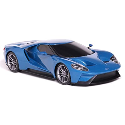 MaiSto Tech R/C 1:6 Scale Ford GT Blue Pro style Controller Working Headlights: Toys & Games