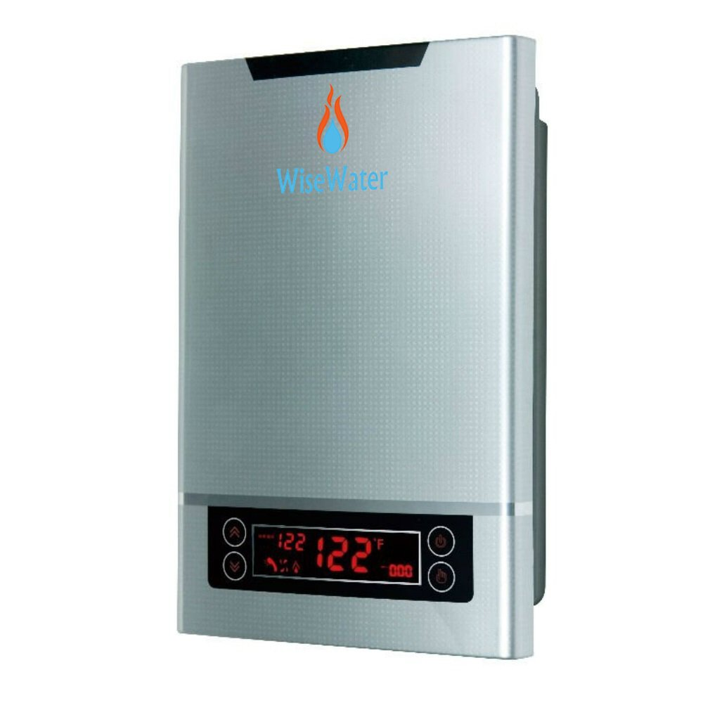 WiseWater Tankless Hot Water Heater Electric, Self-Modulating Power 11kW, 3.0 GPM Multiple Points of Use for US Southern Regions