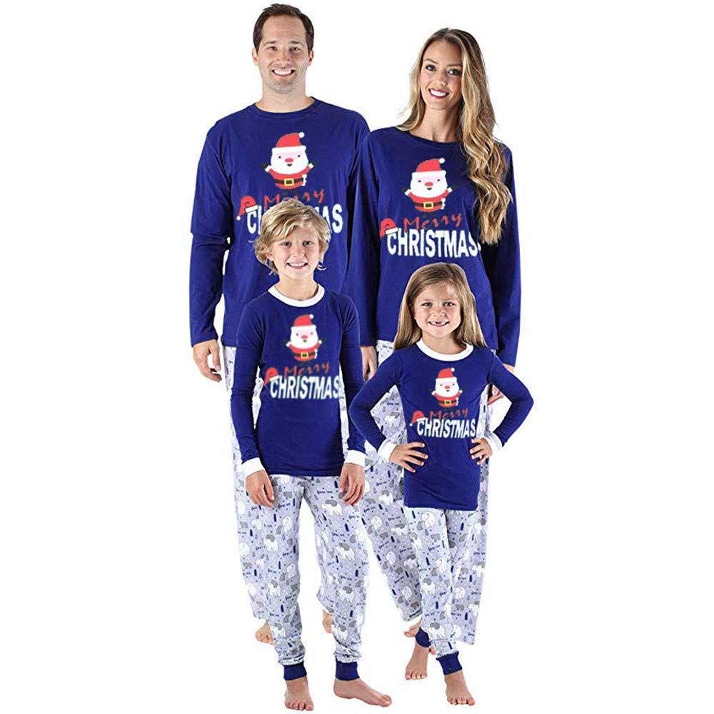 Natale Famiglia Matching Pigiami Due Pezzi Pigiami Natale Famiglia Famiglia coordinazione Abbigliamento Donna Uomini Ragazzi Ragazze Natale Pigiama Camicia Indoor + Pantaloni Set Dormire Pigiama