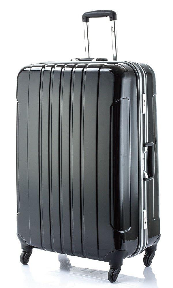[マンハッタンエクスプレス] MANHATTAN EXP. スーツケース フレームタイプ 鏡面加工 フーク 87.5L 75.5cm  ブラック B013HPOI1G
