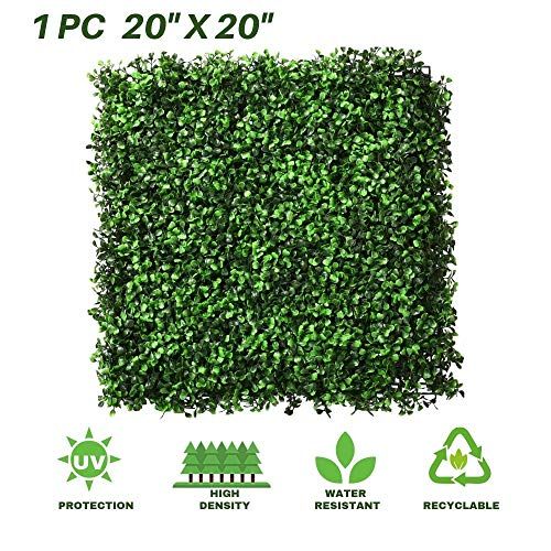 - Lush Space Boxwood Panels 1 Pack Artificial Topiary Hedge Greenery Fence Plants Multiple Purpose Garden Fence Backyard Party Indoor Outdoor Decor of 20