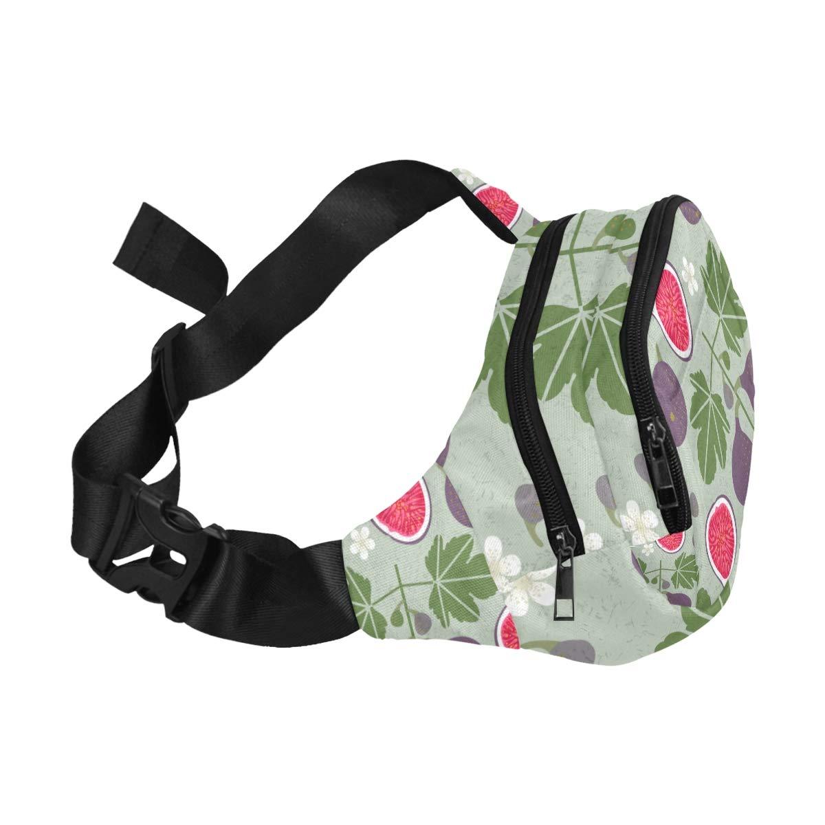 Delicious Fruit Flavor Of Fig Leaves Fenny Packs Waist Bags Adjustable Belt Waterproof Nylon Travel Running Sport Vacation Party For Men Women Boys Girls Kids