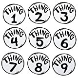 Dr. Seuss Thing 1-9 Printed Patches Set by elope