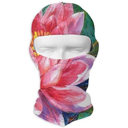 Amazoncom Yixkc Balaclava Red Lotus Flower Customized Full Face