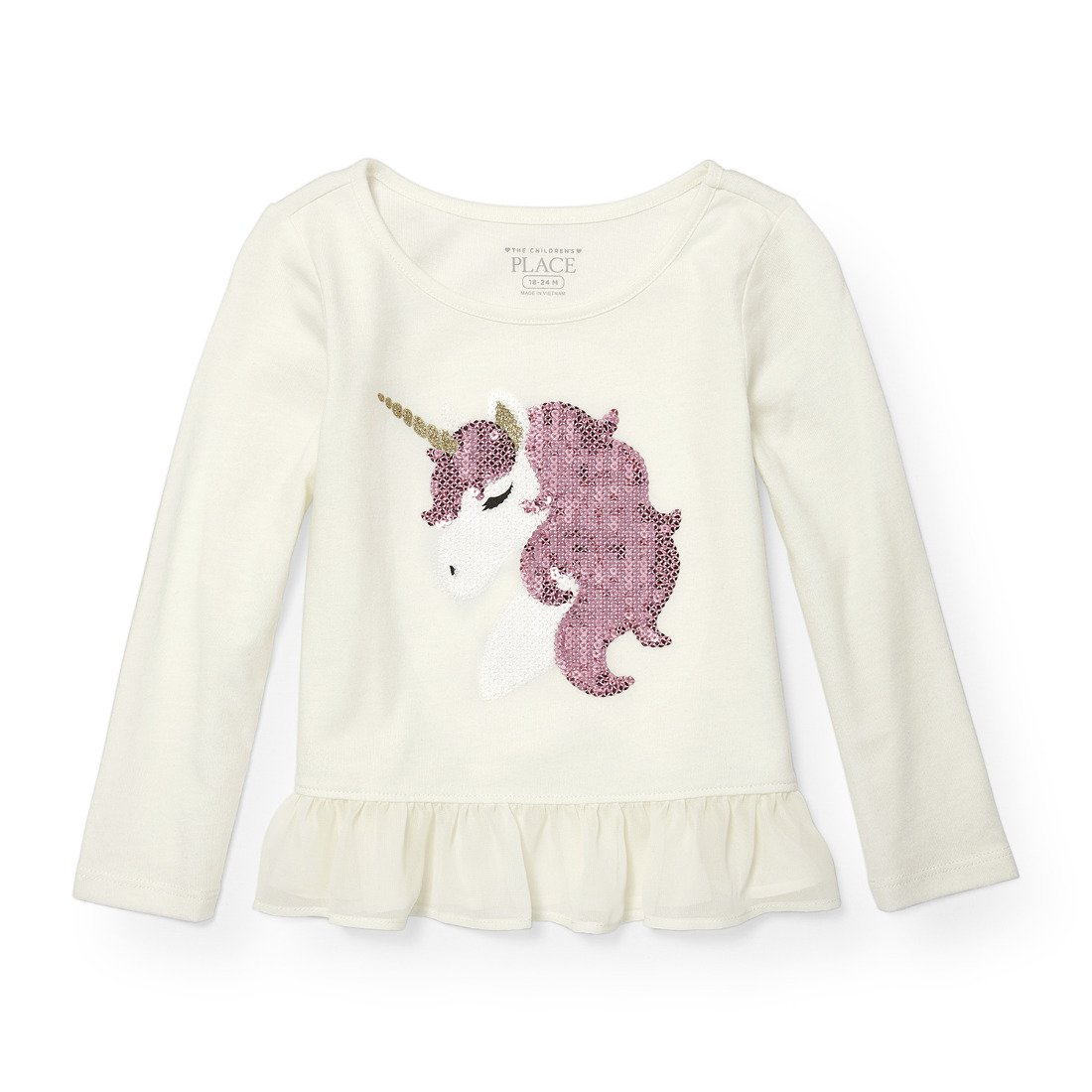 The Children's Place Baby Girls' Long Sleeve Mesh Piece Hangdown Fashion Knit 2088423