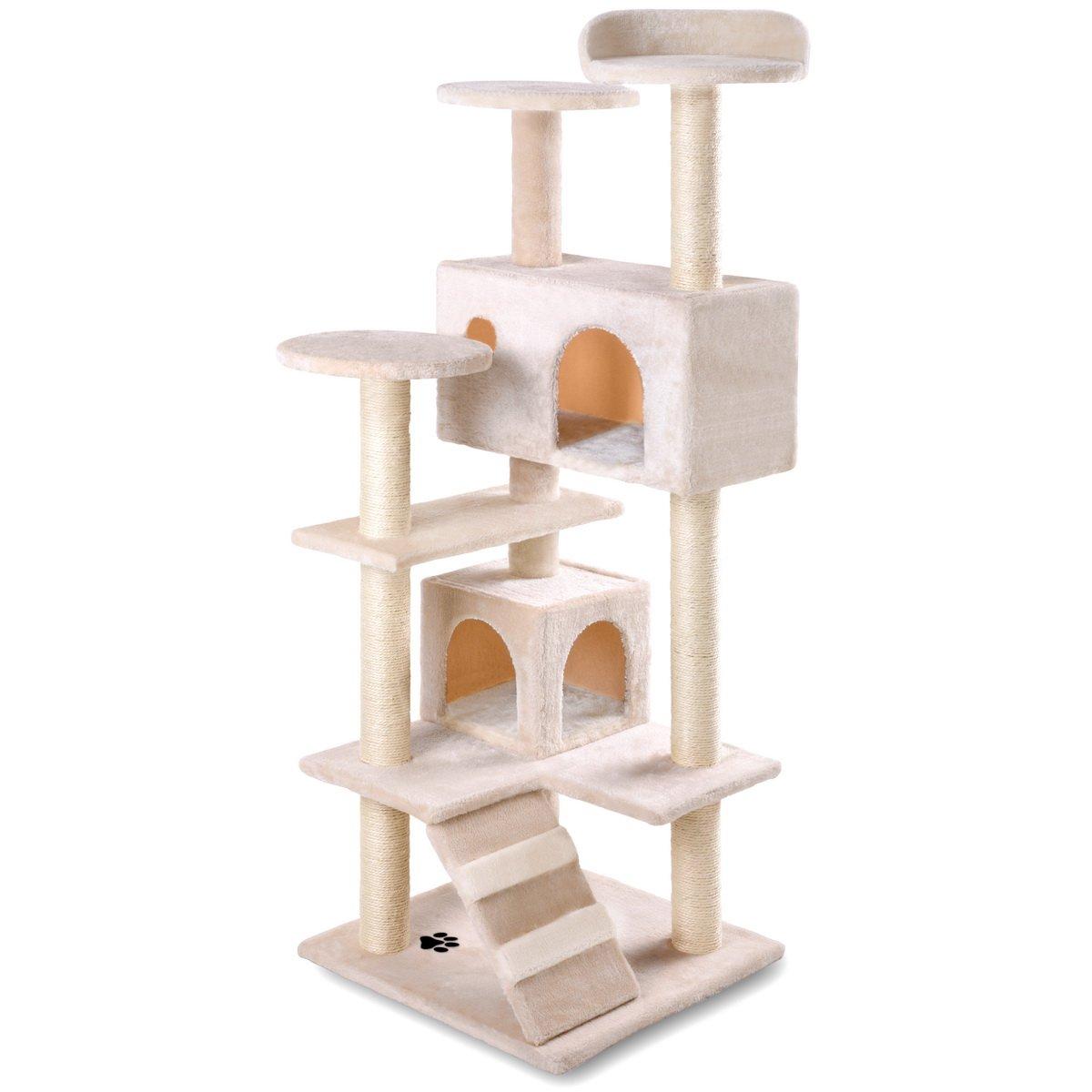 McHaus MAA1300B Árbol Rascador para Gatos con Nido Hamaca Plataforma 130cm de Altura: Amazon.es: Productos para mascotas