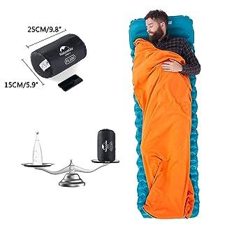 Linnuo Saco de Dormir de Fleece Ligero Saco de Dormir Interiores Multifunción Suave Sábanas Ligero Camping Excursiones Alpinismo Hoja de Viaje (Marrón,One ...