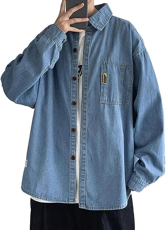 [もうほうきょう] デニム ジャケット メンズ ジージャン アウター Gジャン 春 秋 S-3XL