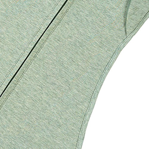 Woombie Convertible Baby Swaddle Heathered Green Lime Sorbet - Big Baby 14-19 lbs