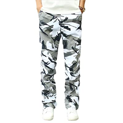 ainr Men's Military Camouflage Multi-pocket Relaxed Fit Cargo Pants