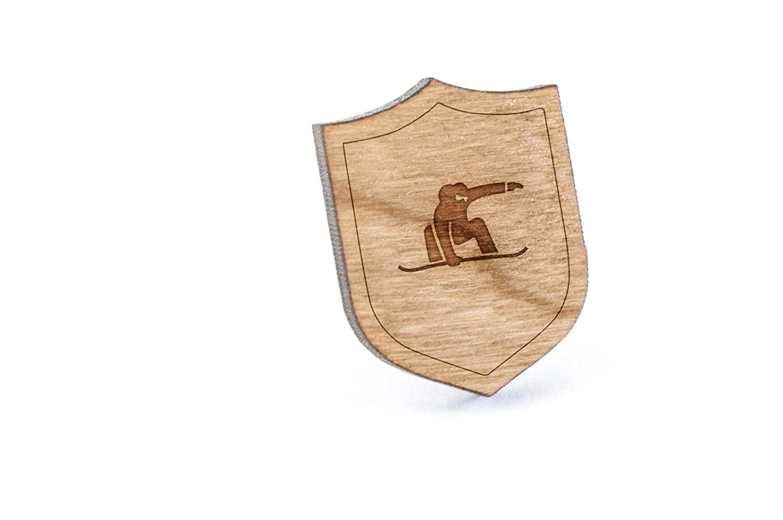 Snowboarding Lapel Pin Wooden Pin