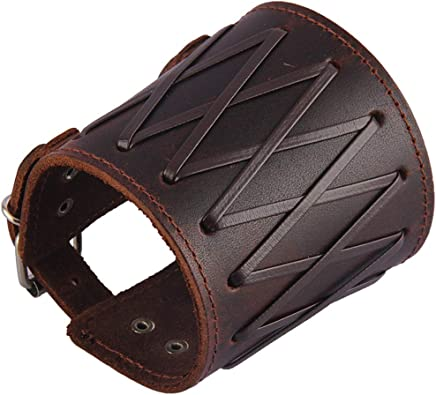 25x7.4cm Leather Arm Bracers with Strap