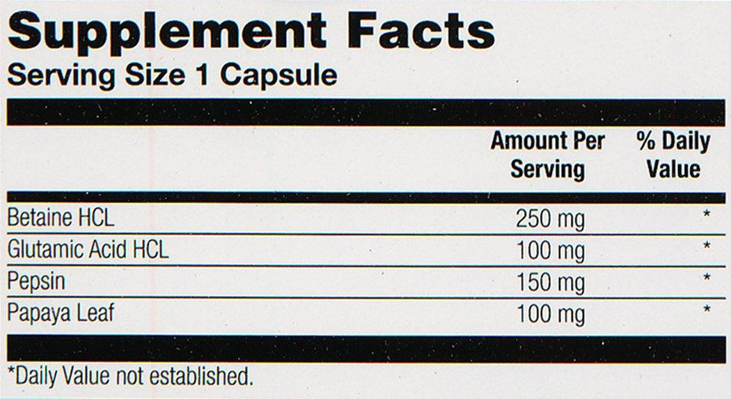 Amazon.com: Solaray – HCL con Pepsin – 250 mg – 180 Cápsulas ...