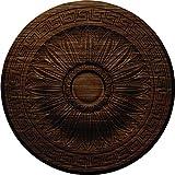 Ekena Millwork CM20HAWAS Randee Ceiling Medallion, Walnut