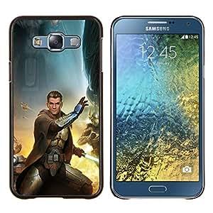 Caucho caso de Shell duro de la cubierta de accesorios de protección BY RAYDREAMMM - Samsung Galaxy E7 E700 - Estrella Jedi