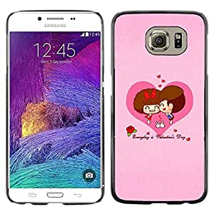 LECELL -- Funda protectora / Cubierta / Piel For Samsung Galaxy S6 SM-G920 -- Happy Valentines Day --