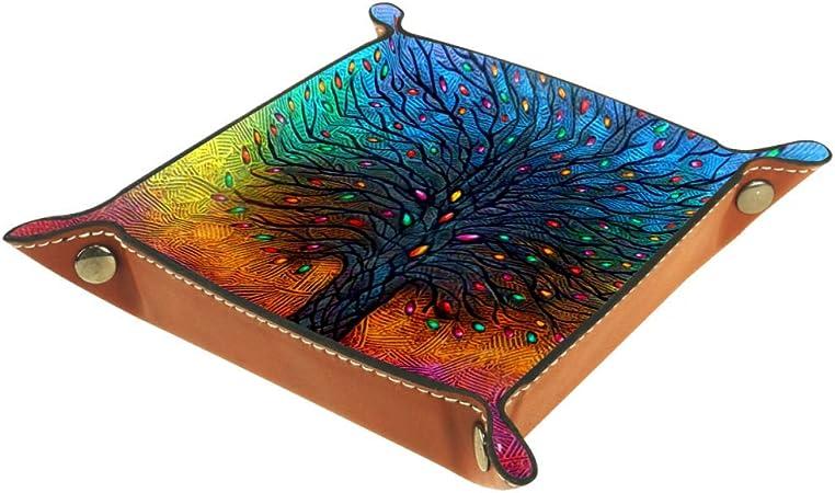 ASDFSD - Bandeja de dados pintada con bandeja plegable de piel sintética para juegos de rol y otros juegos de mesa, Multi01, 20.5x20.5cm: Amazon.es: Hogar