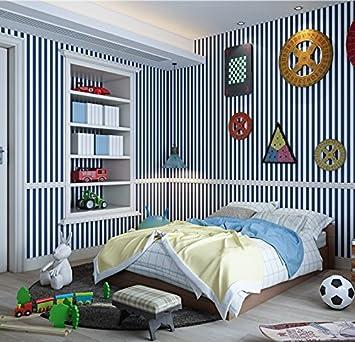 Vanme Warme Kinderzimmer Grun Gestreiften Tapeten Im Ostlichen