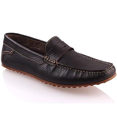 Unze Mocasines Zapatos de cuero suave Hombres Fregmo: Amazon.es: Zapatos y complementos