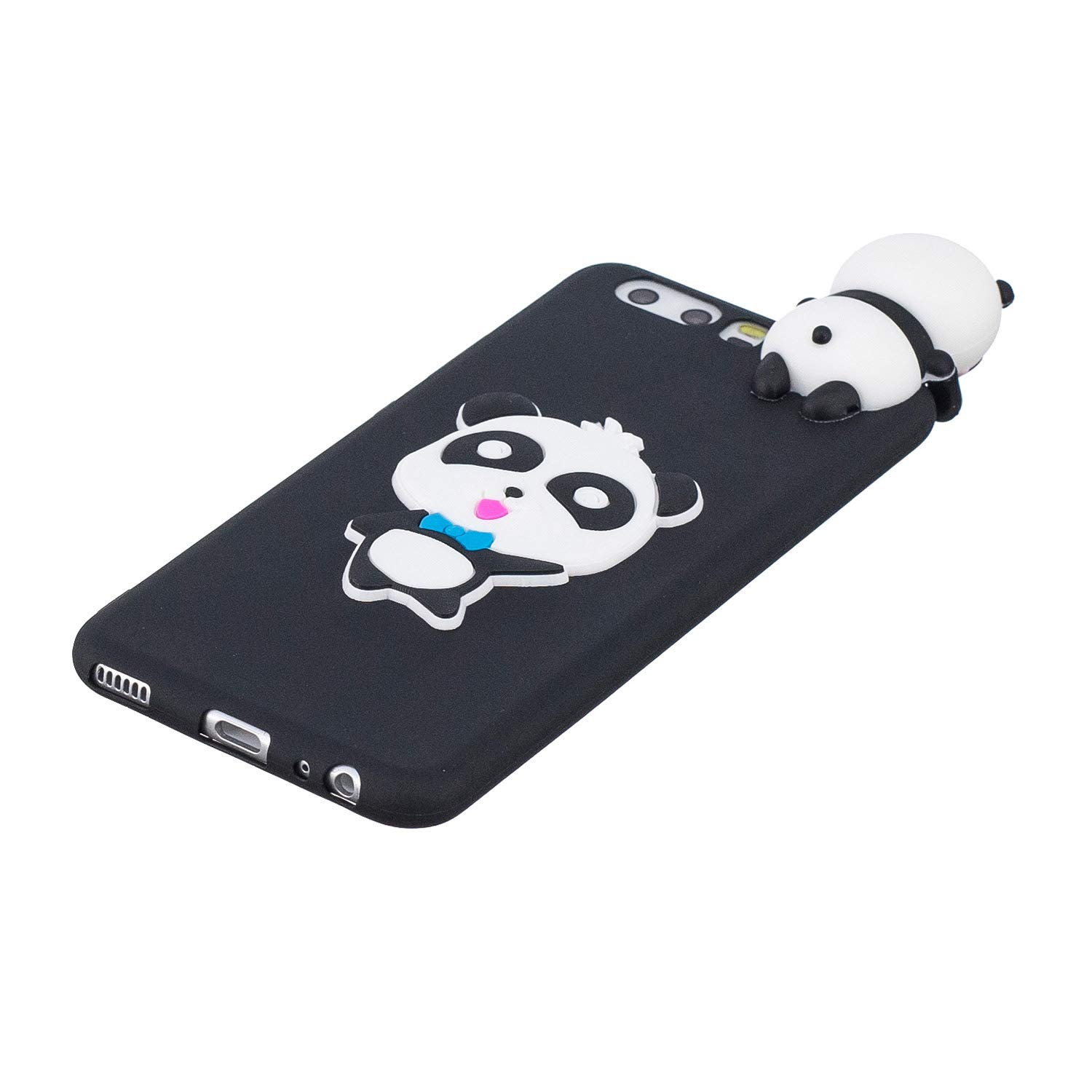 for Huawei P10 Silicone Case with Screen Protector,QFFUN 3D Cartoon [Panda] Pattern Design Soft Flexible Slim Fit Gel Rubber Cover,Shockproof Anti-Scratch Protective Case Bumper by QFFUN (Image #3)