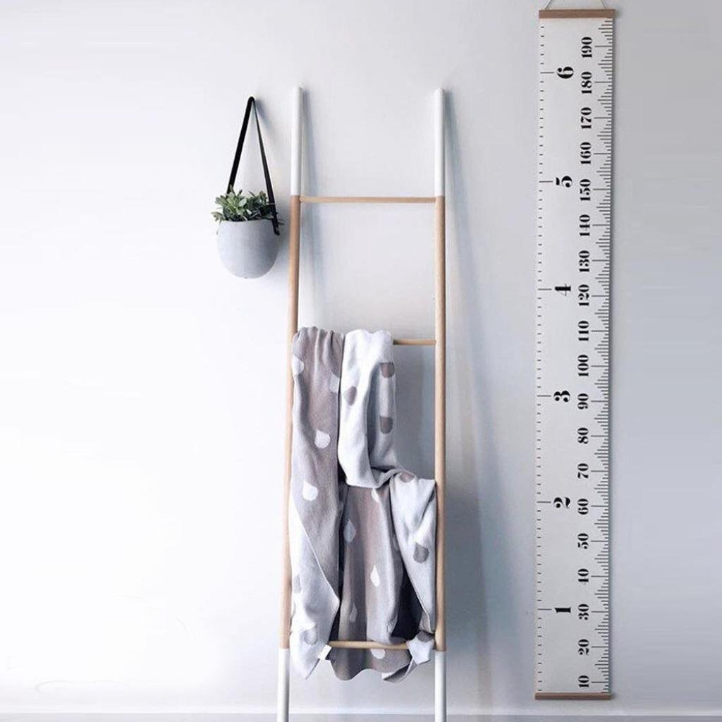 Growth Chart, Snowfoller Baby Girls Boys Height Growth Chart Hanging Rulers Kids Room Wall Wood Frame Home Decoration 79''x7.9'