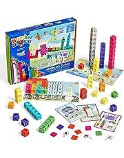 hand2mind Numberblocks MathLink Cubes 1-10 Activity Set, 30 Numberblocks Activities Linked to TV Episodes, 100 NumberBlocks MathLink Cubes, Numberblocks Toys, Math Cubes, Homeschool Supplies