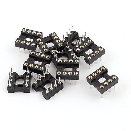 10PCS soldadura de tipo 2 de la fila 8 pines Circuito integrado DIP Zócalos CI