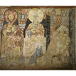 'Anonymous 12 Century Two Apostles. The Hermitage Of The Vera Cruz De Maderuelo ' Oil Painting, 16 X 19 Inch / 41 X 48 Cm ,printed On Perfect Effect Canvas ,this Reproductions Art Decorative Canvas Prints Is Perfectly Suitalbe For Home Office Artwork And