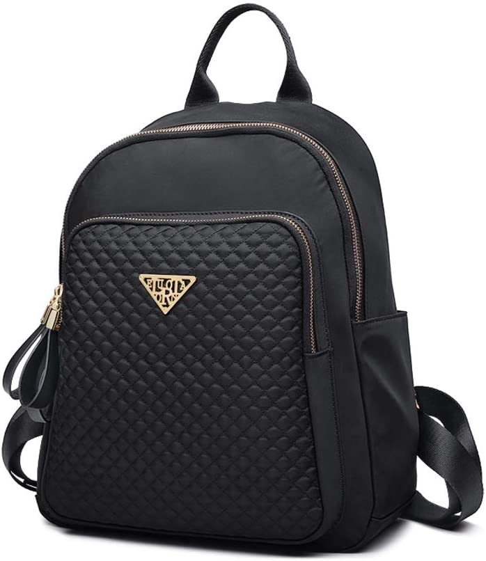 Fashion and Leisure Simple and Generous Huijunwenti The Girls Versatile Backpack is Perfect for Everyday Travel Latest Models Work Outdoor School Travel Black