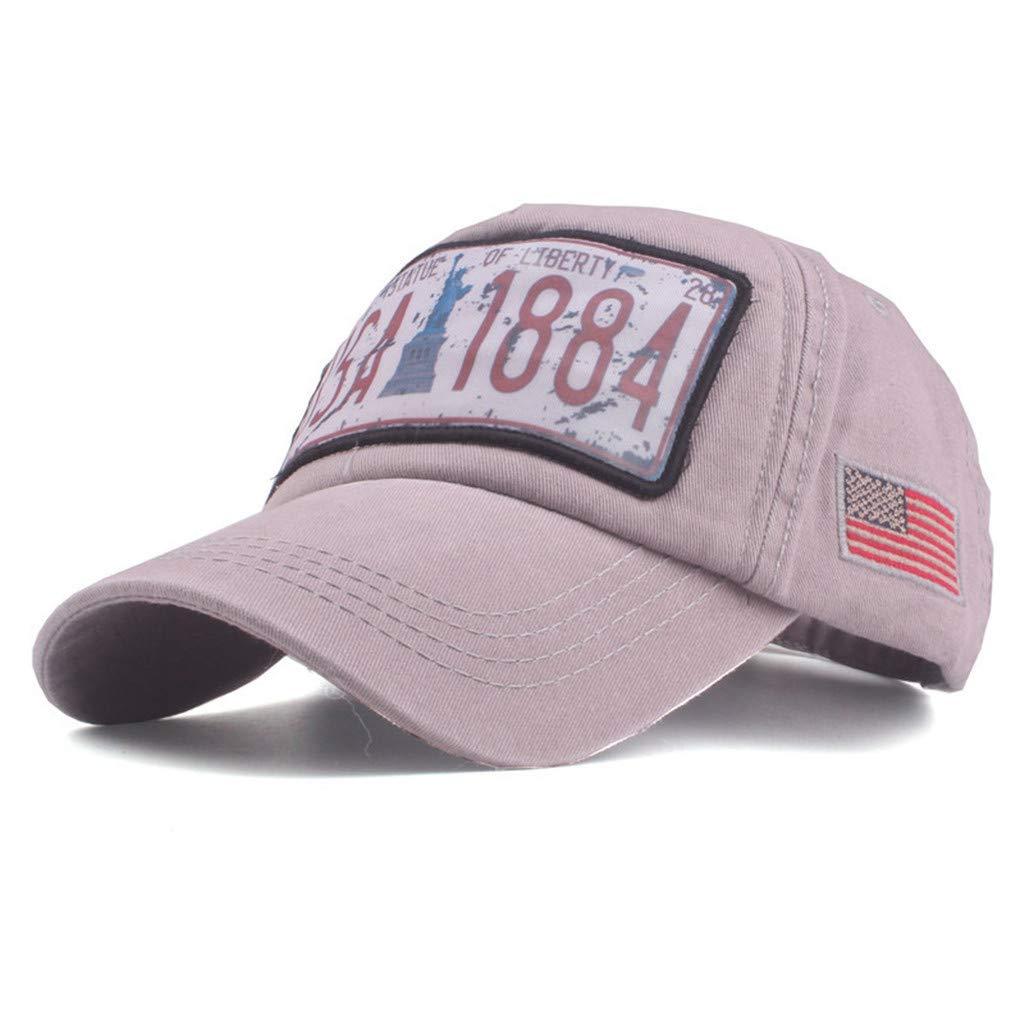 Rcool Gorras de béisbol Viseras Gorro de pescador Pamelas Sombreros Panamá, Las mujeres bordaron la gorra de béisbol del dril de algodón de la flor: ...