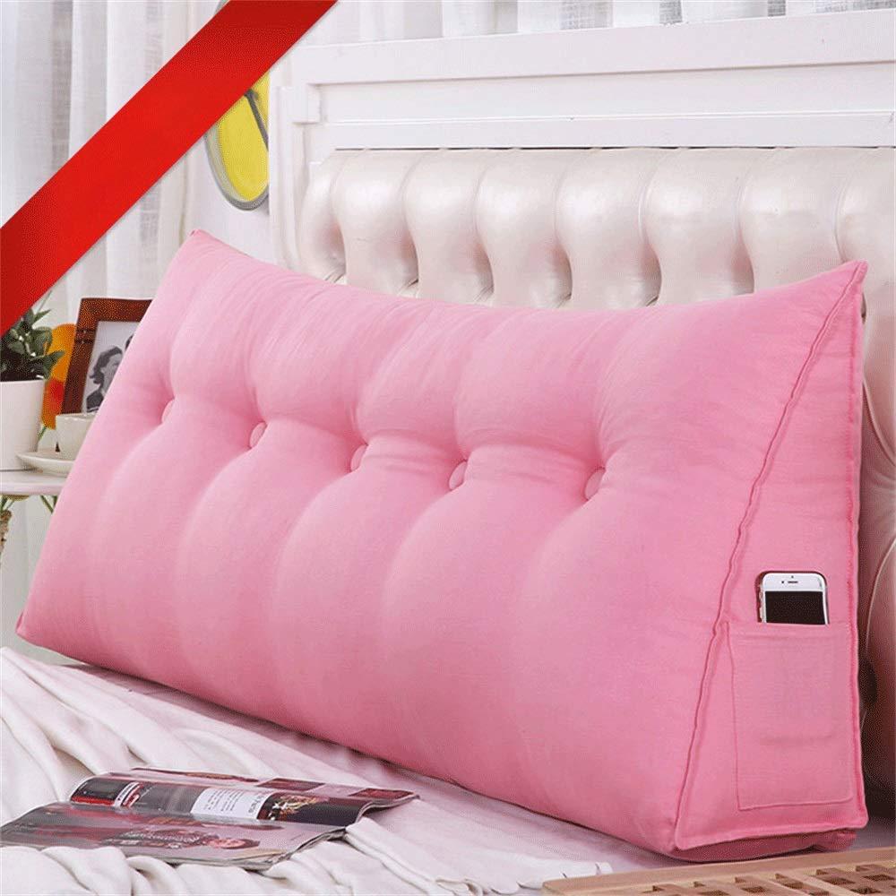 GLP ベッドクッショントライアングルラージバックソフトケースピローウエストピロー洗えるベッドサイドダブルベッドルーム枕漫画、19色&7サイズ (Color : M, Size : 200X50X20cm) B07QZ1L29F