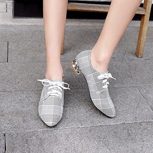 Coolcept Women Closed Toe Puppy Heel Court Shoes White-line ffW9mCeDEU