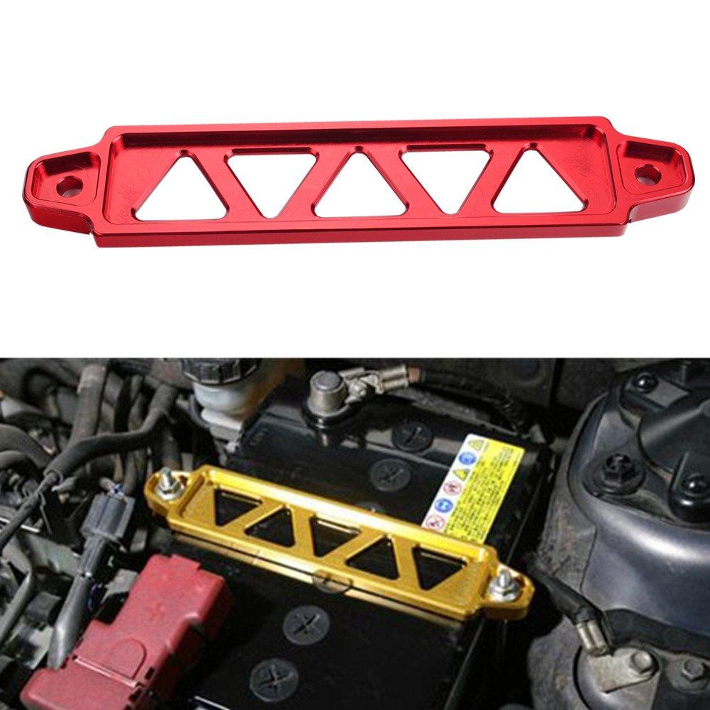 Dewhel JDM Billet Aluminum Battery Tie Down For Honda Civic Acura Rsx Ep3 Dc5 Si (Black)